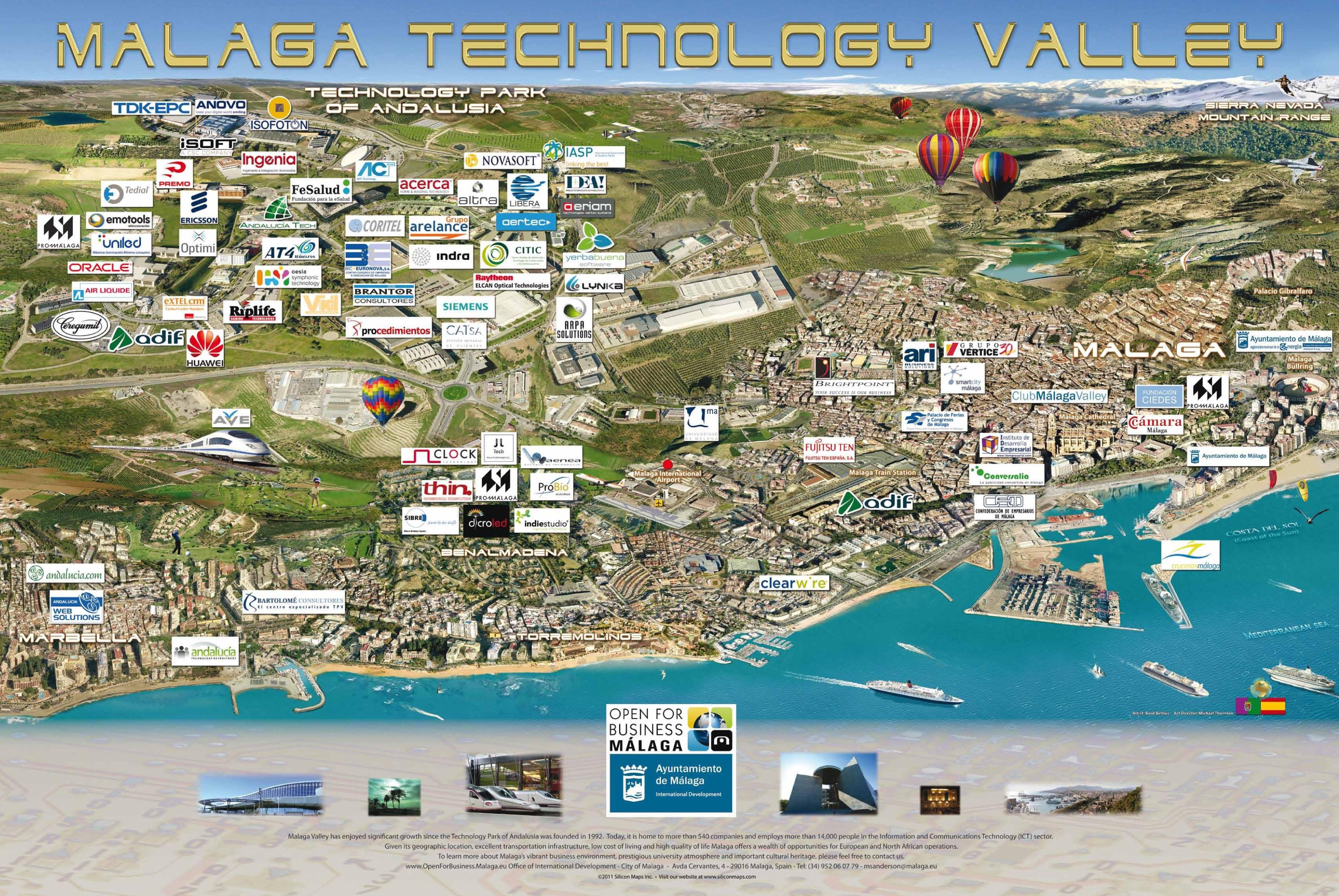 Málaga facturó 123,8 millones de euros en la exportación de productos tecnológicos