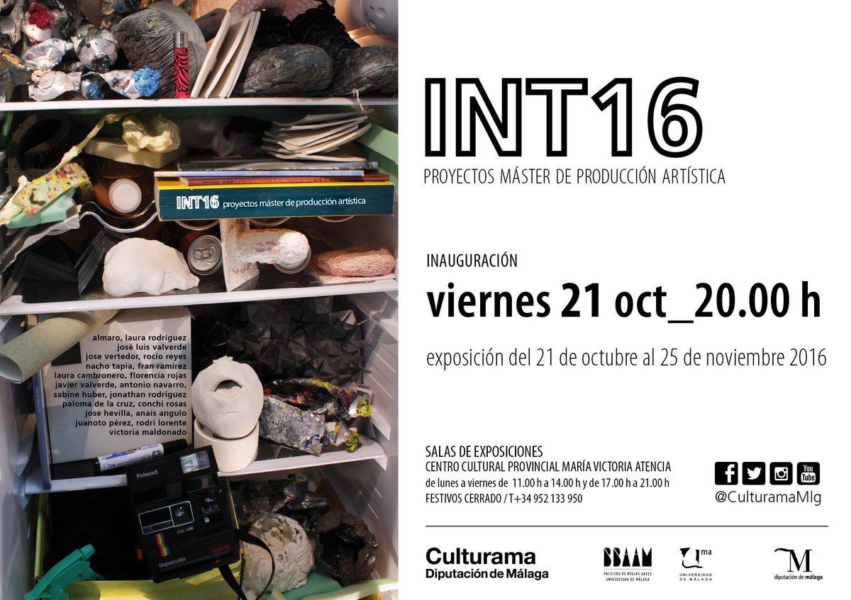 Inaugurada la exposición INT 16 con proyectos finales de alumnos del máster de Bellas Artes