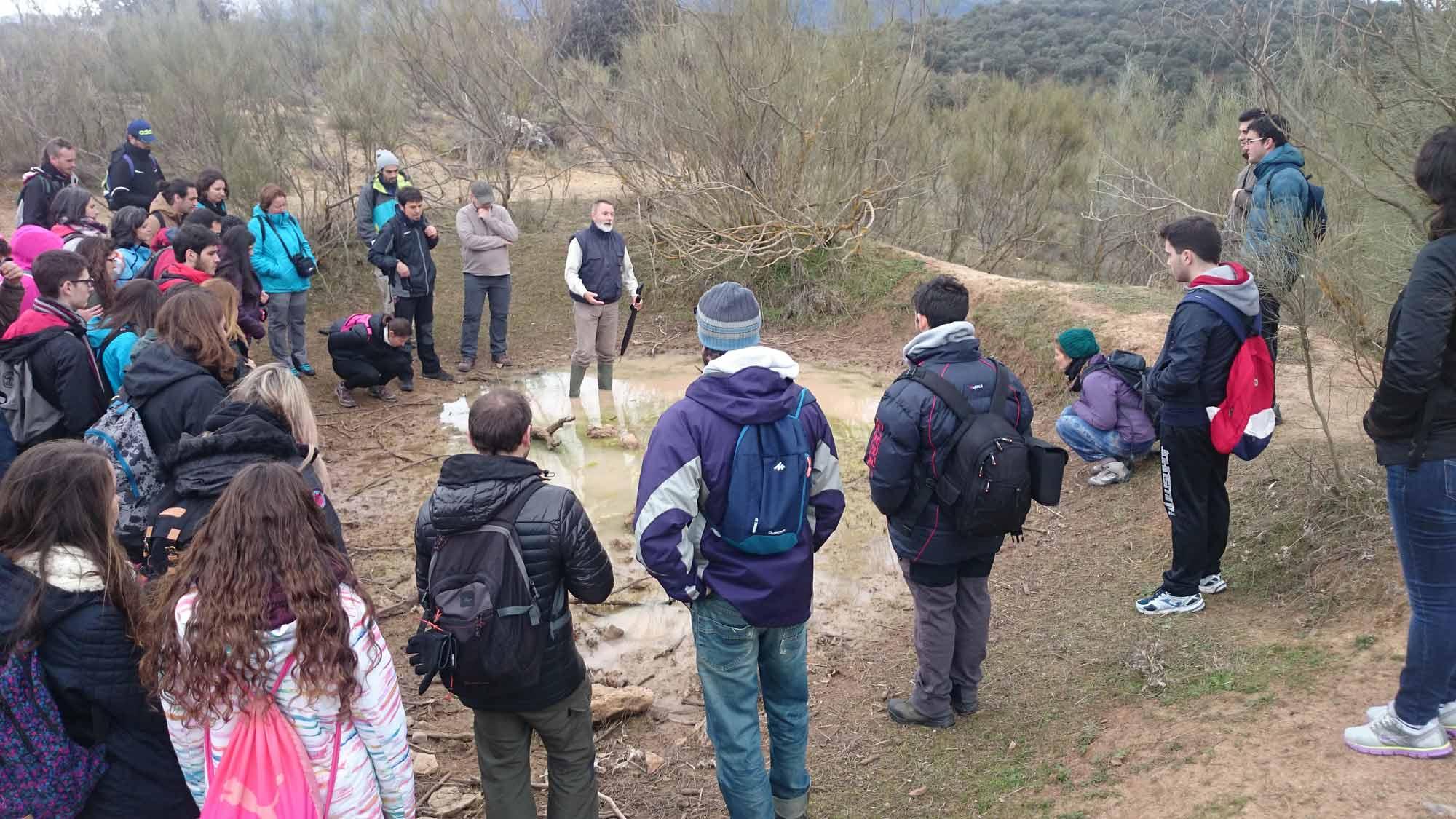 Visita a las Lagunas de Archidona para mejorar el conocimiento de los humedales