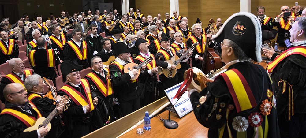 Más de un centenar de tunos veteranos celebran en Málaga el V Juntamiento de Tuna España