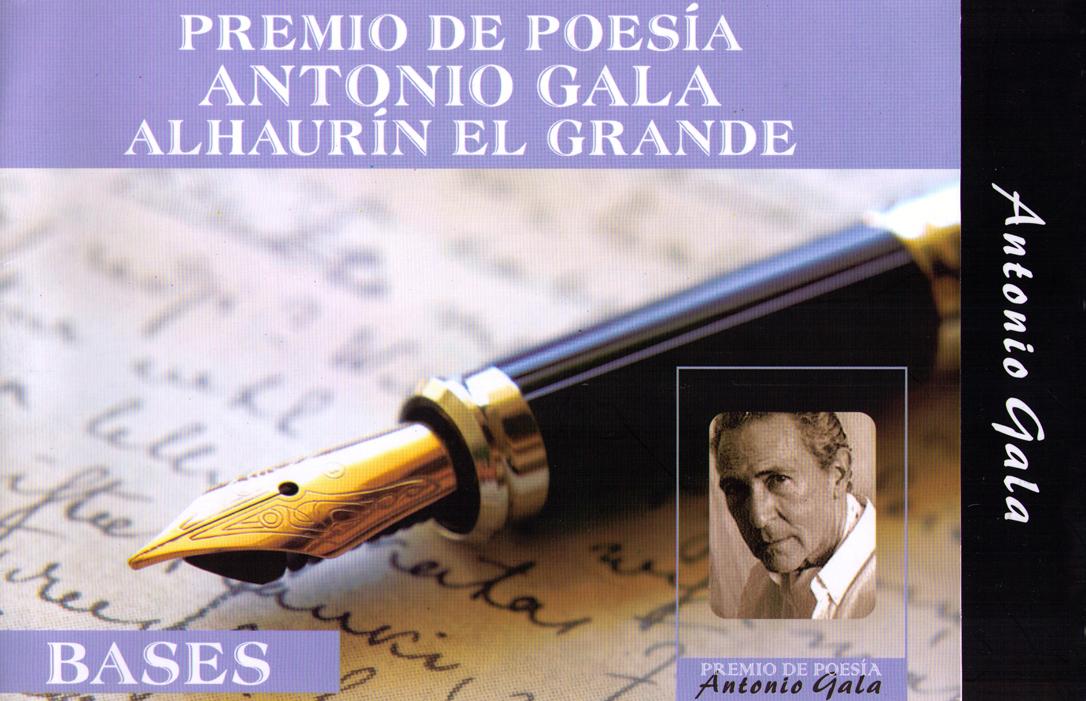 La Concejalía de Cultura del Ayuntamiento de Alhaurín el Grande convoca el XI Premio internacional de Poesía Antonio Gala