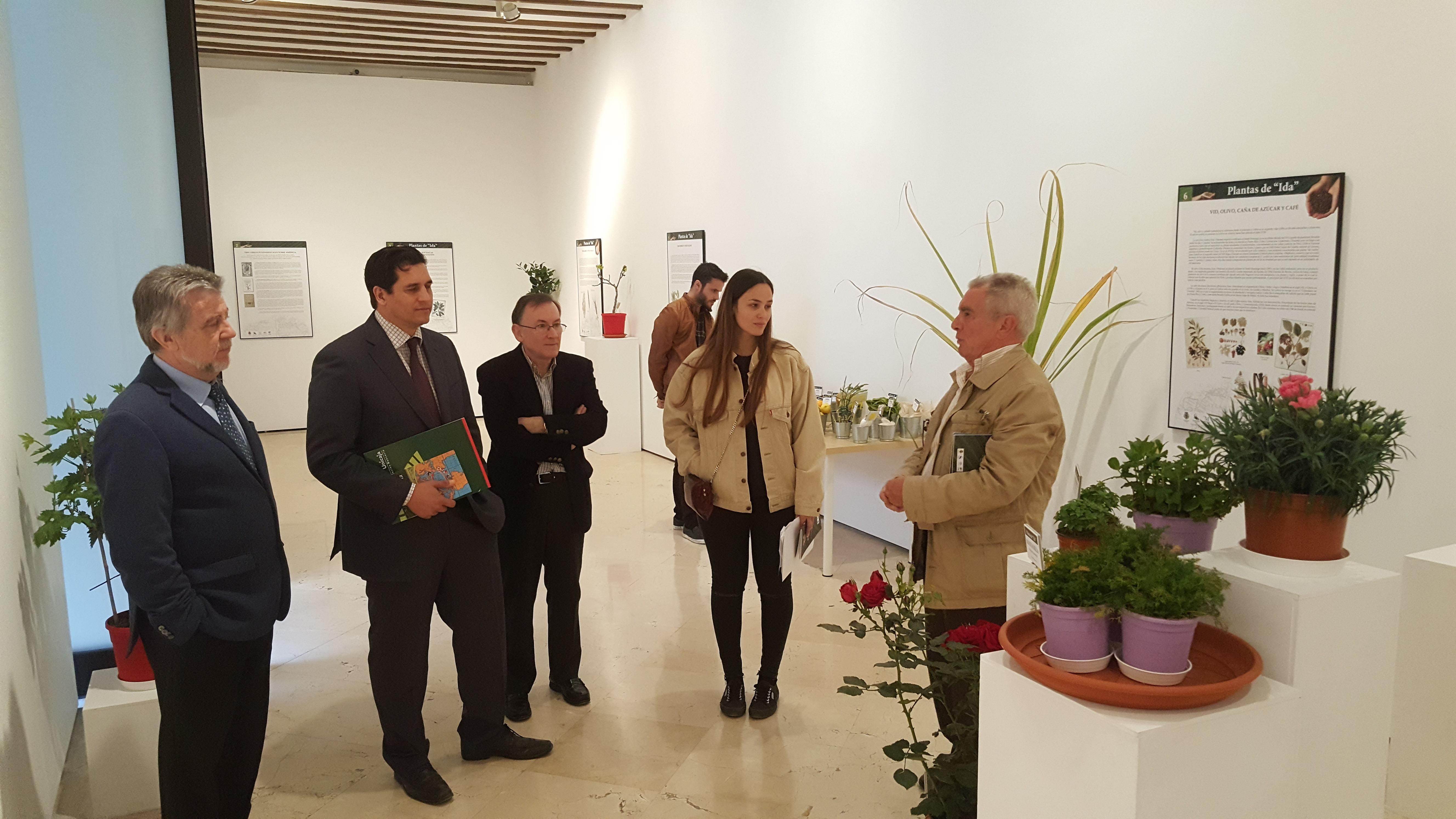 La Fundación Unicaja, la Sociedad Económica Amigos del País de Málaga y la Junta de Andalucía inauguran la exposición 'Plantas de ida y vuelta', compuesta de textos, ilustraciones, fotografías y  materiales sobre biología, botánica e historia
