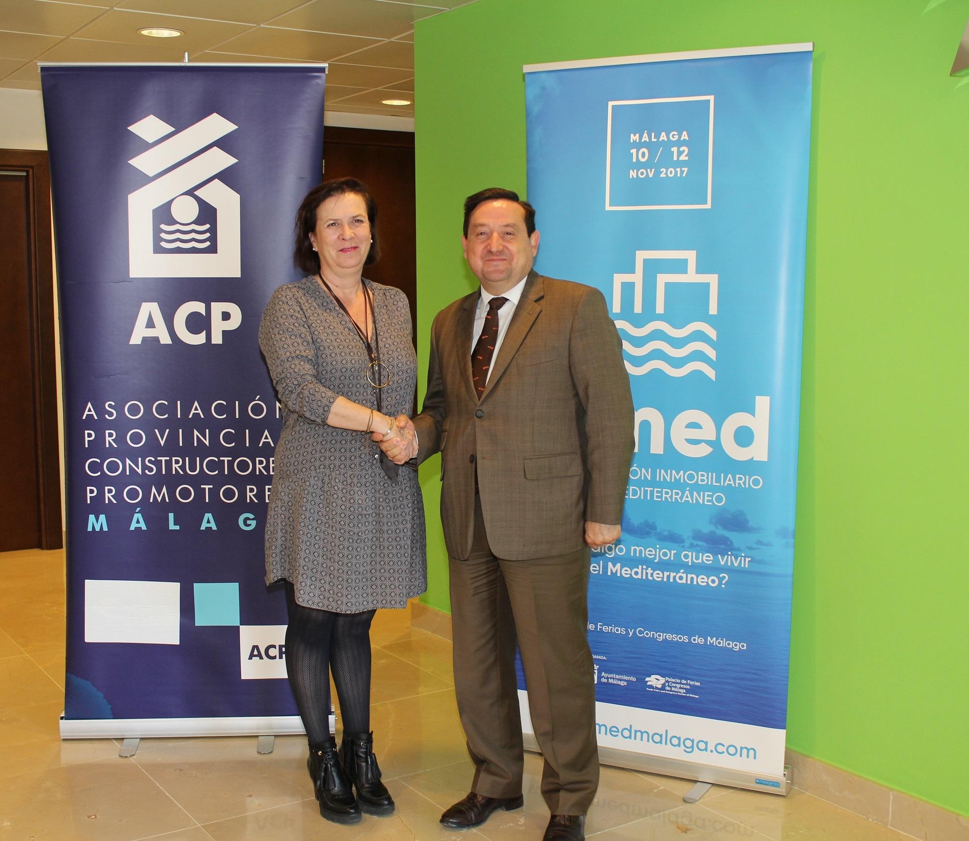 FYCMA y la Asociación Provincial de Constructores y Promotores de Málaga renuevan su colaboración para el próximo SIMed