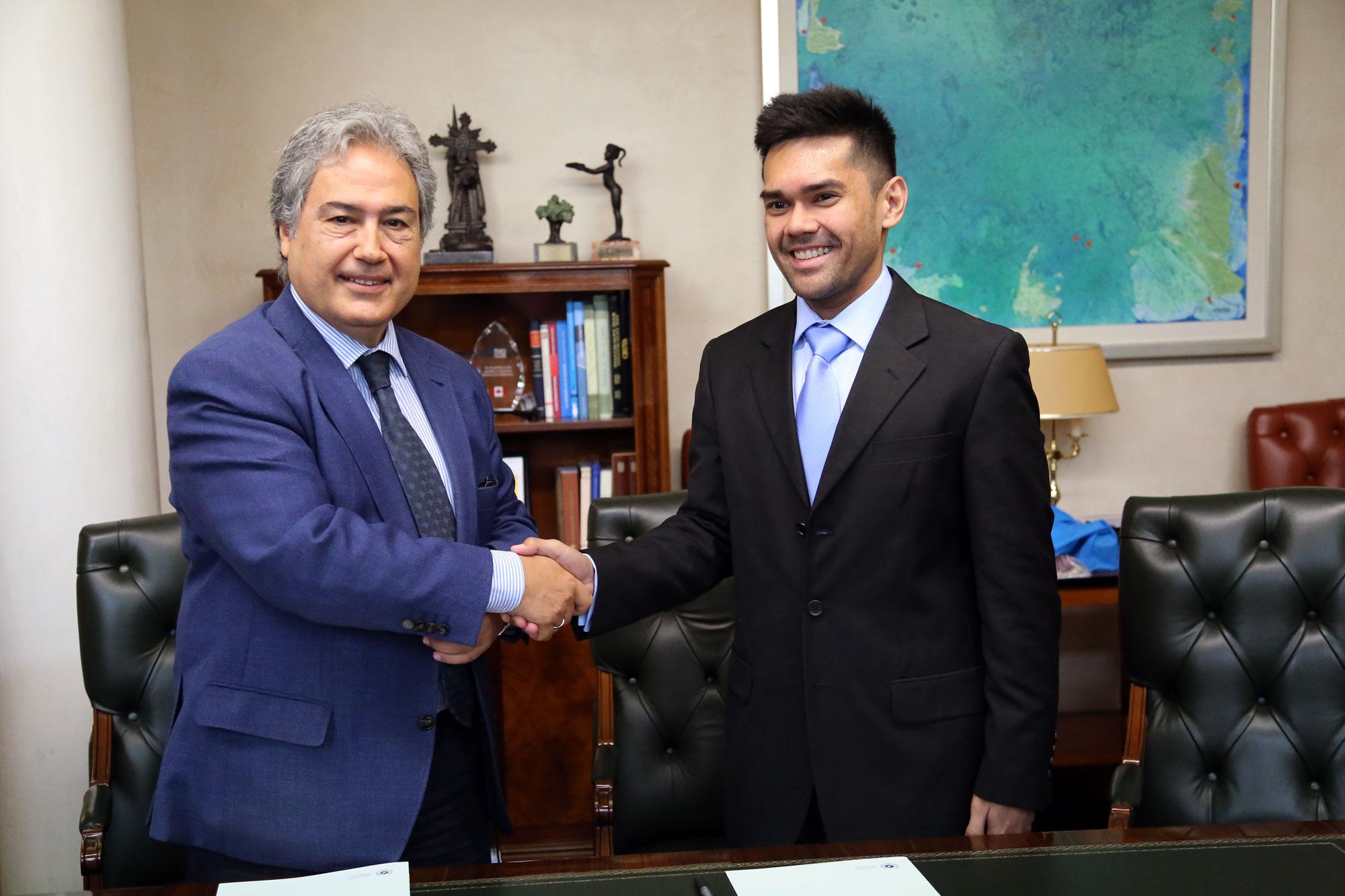 Firmado un convenio marco de cooperación con la Universidad de Filipinas