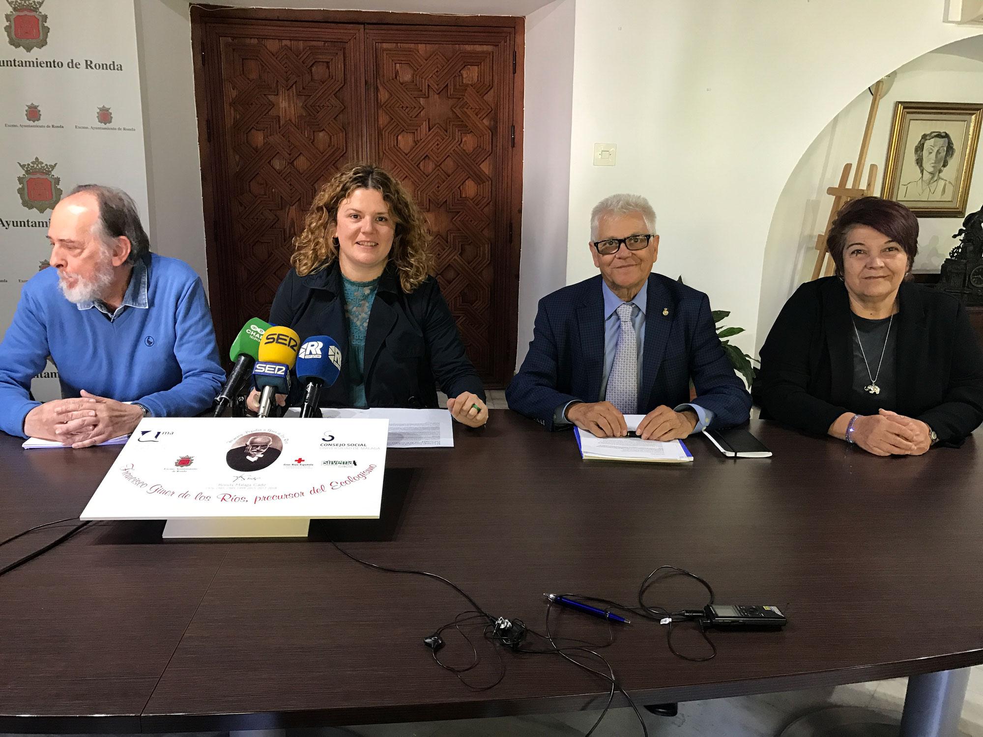 El Consejo Social de la UMA colabora en la celebración del año Giner de los Ríos en Ronda