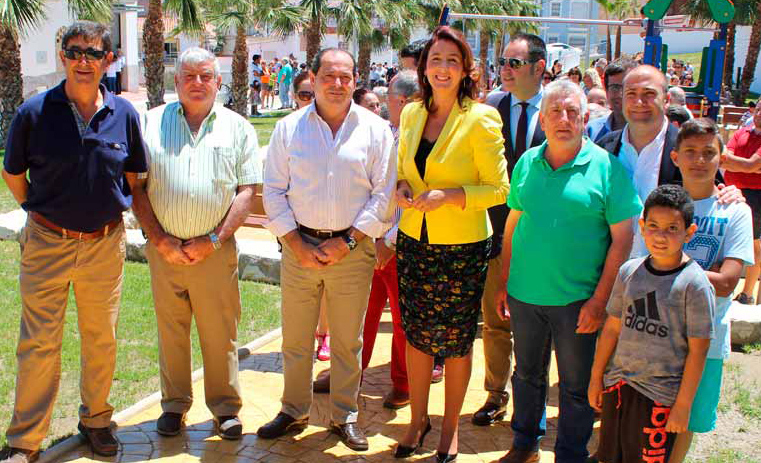 La alcaldesa Toñi Ledesma inaugura el Parque Lagartijo