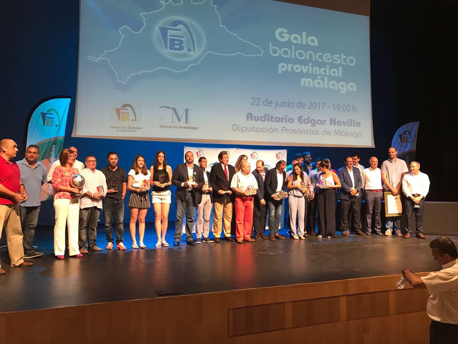 La Gala del Baloncesto Provincial Málaga cierra la temporada