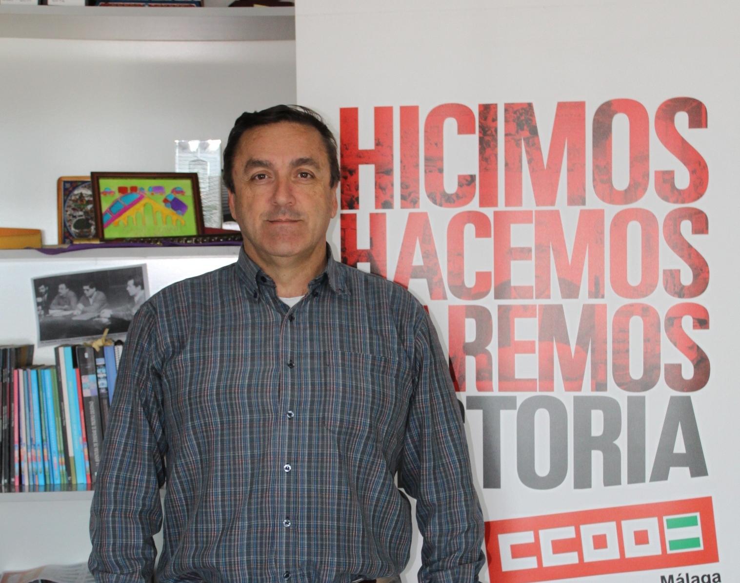 """""""De la patronal espero su lealtad, que cumpla lo acordado"""". Fernando M. Cubillo. Secretario general de CCOO de Málaga"""