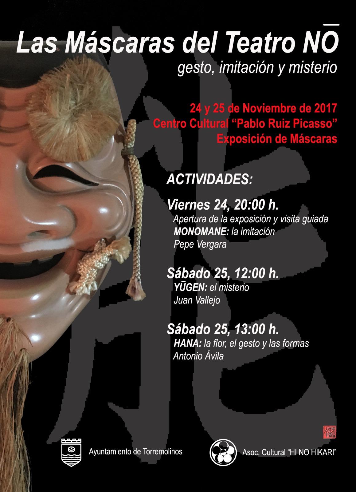 Los fundamentos del teatro clásico japonés aterrizan en Torremolinos con una exposición de máscaras