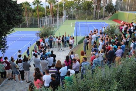 Alhaurín el Grande cuenta ya con dos nuevas pistas de tenis de última generación