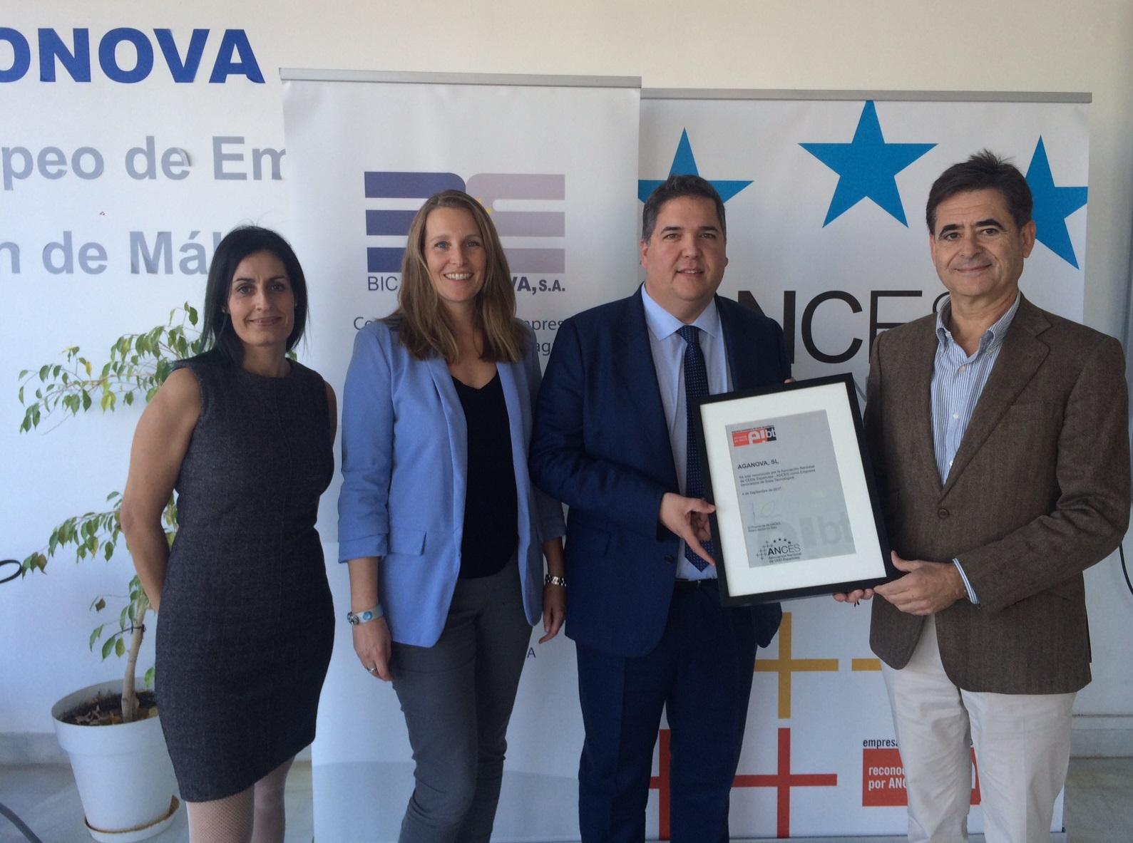 La empresa malagueña Aganova distinguida a nivel nacional como Empresa Innovadora de Base Tecnológica (EIBT)