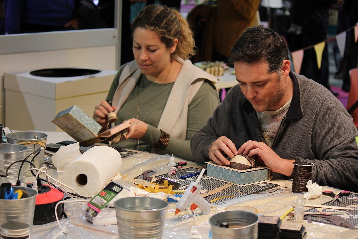 Novedosas técnicas centran los nuevos talleres Academy de Creativa Málaga, salón de las manualidades y la creatividad