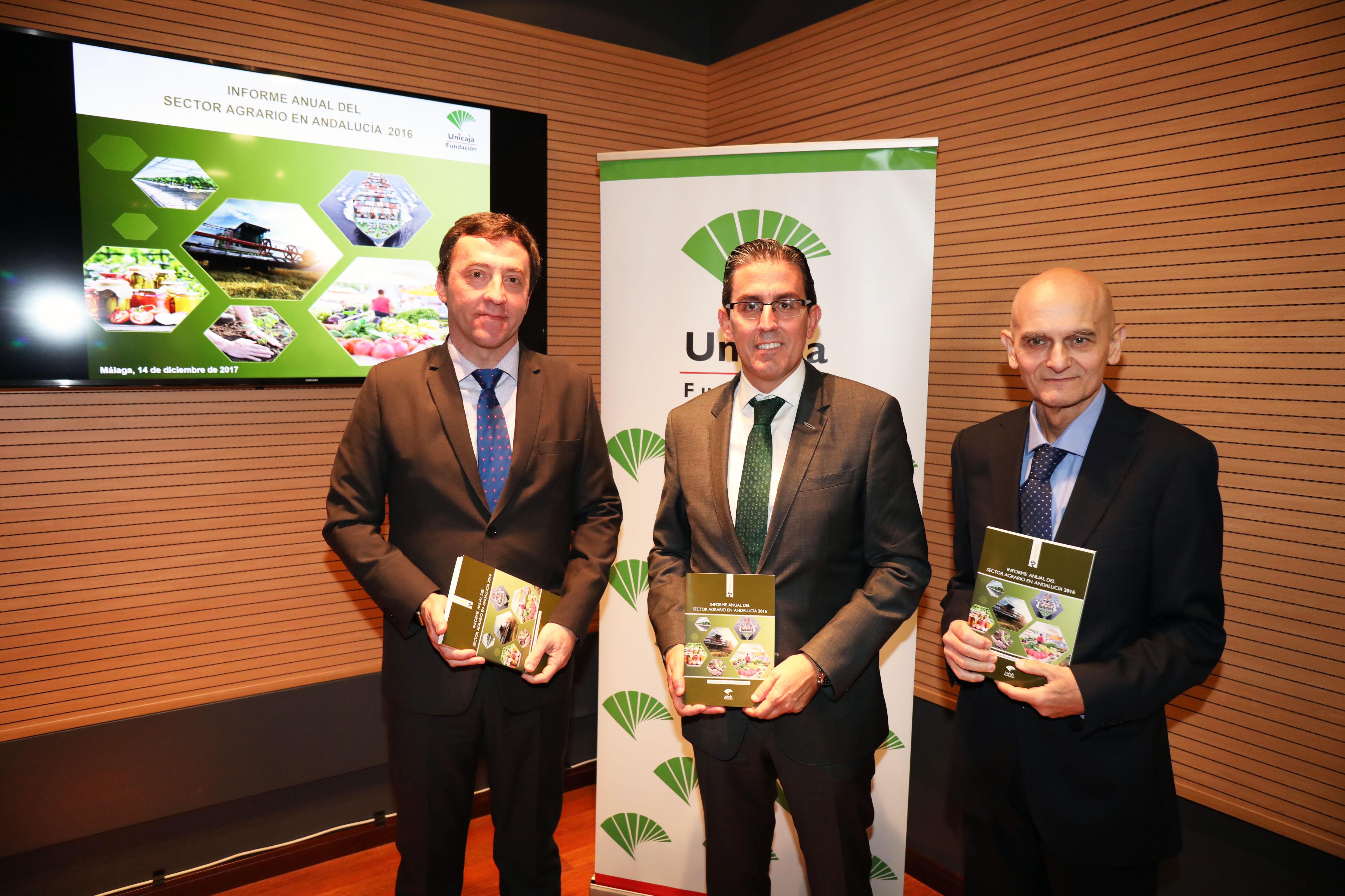 Fundación Unicaja publica el 'Informe Anual del Sector Agrario en Andalucía 2016', que alcanza su vigésima séptima edición
