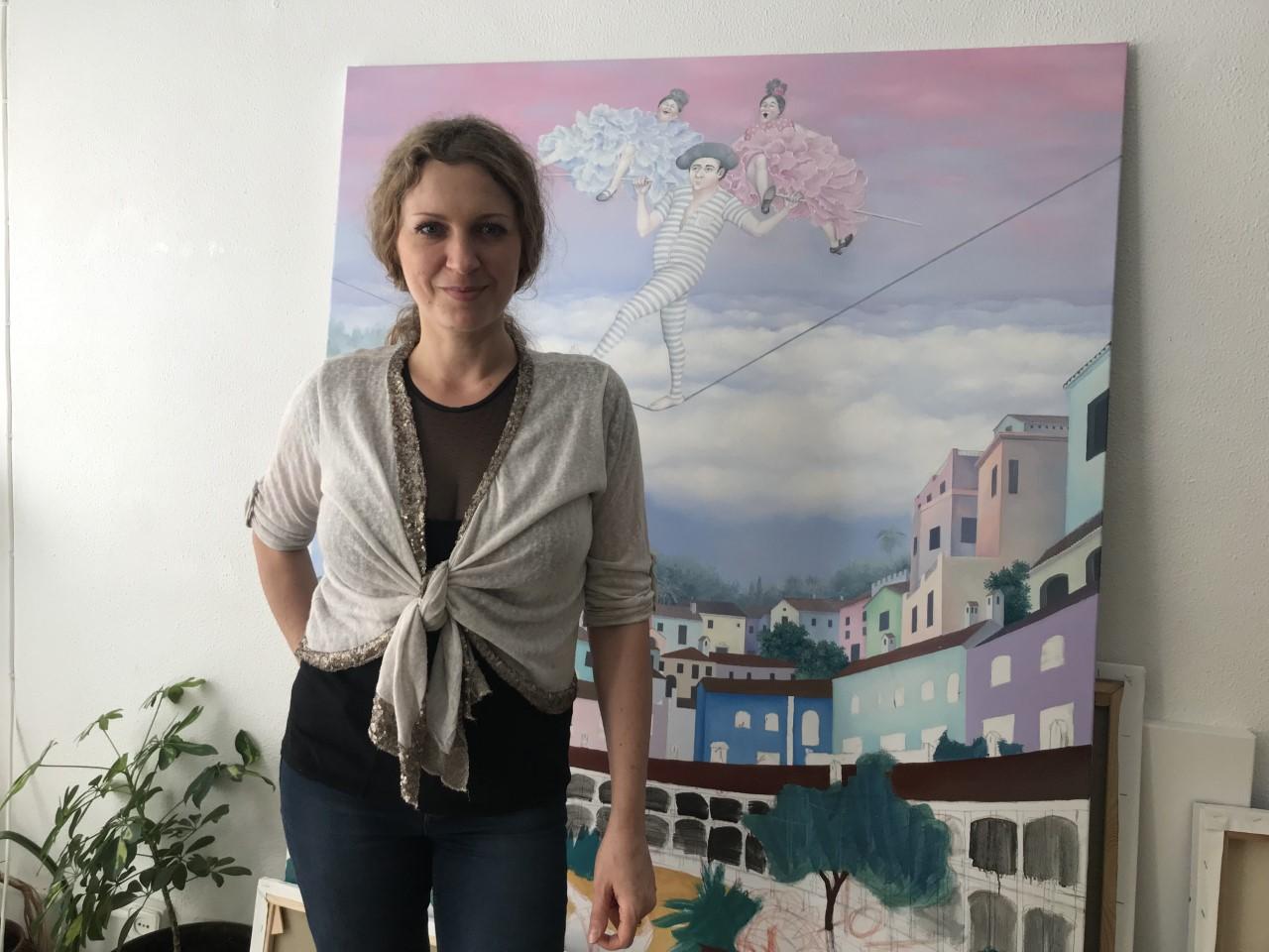 """""""No me imagino ni por una hora, un minuto o un segundo no poder pintar"""". Svetlana Kalachnik"""