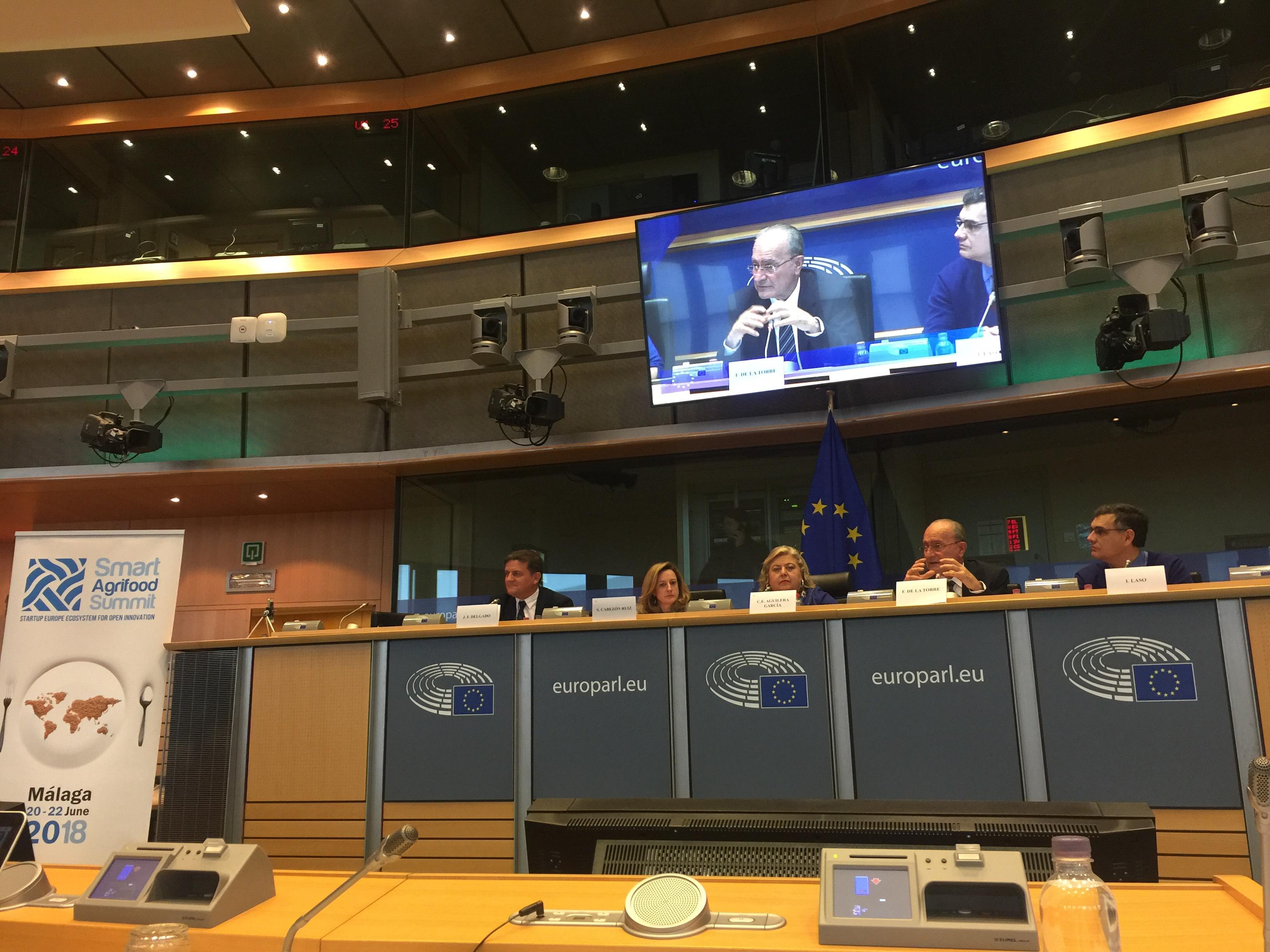 """""""Start Up Europe Smart Agrifood Summit"""" se presenta en Bruselas con el apoyo del Parlamento Europeo"""