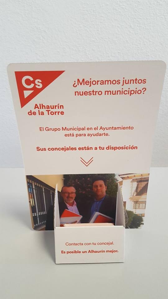 Ciudadanos Alhaurín de la Torre lanza una campaña para que los vecinos propongan cómo mejorar el municipio