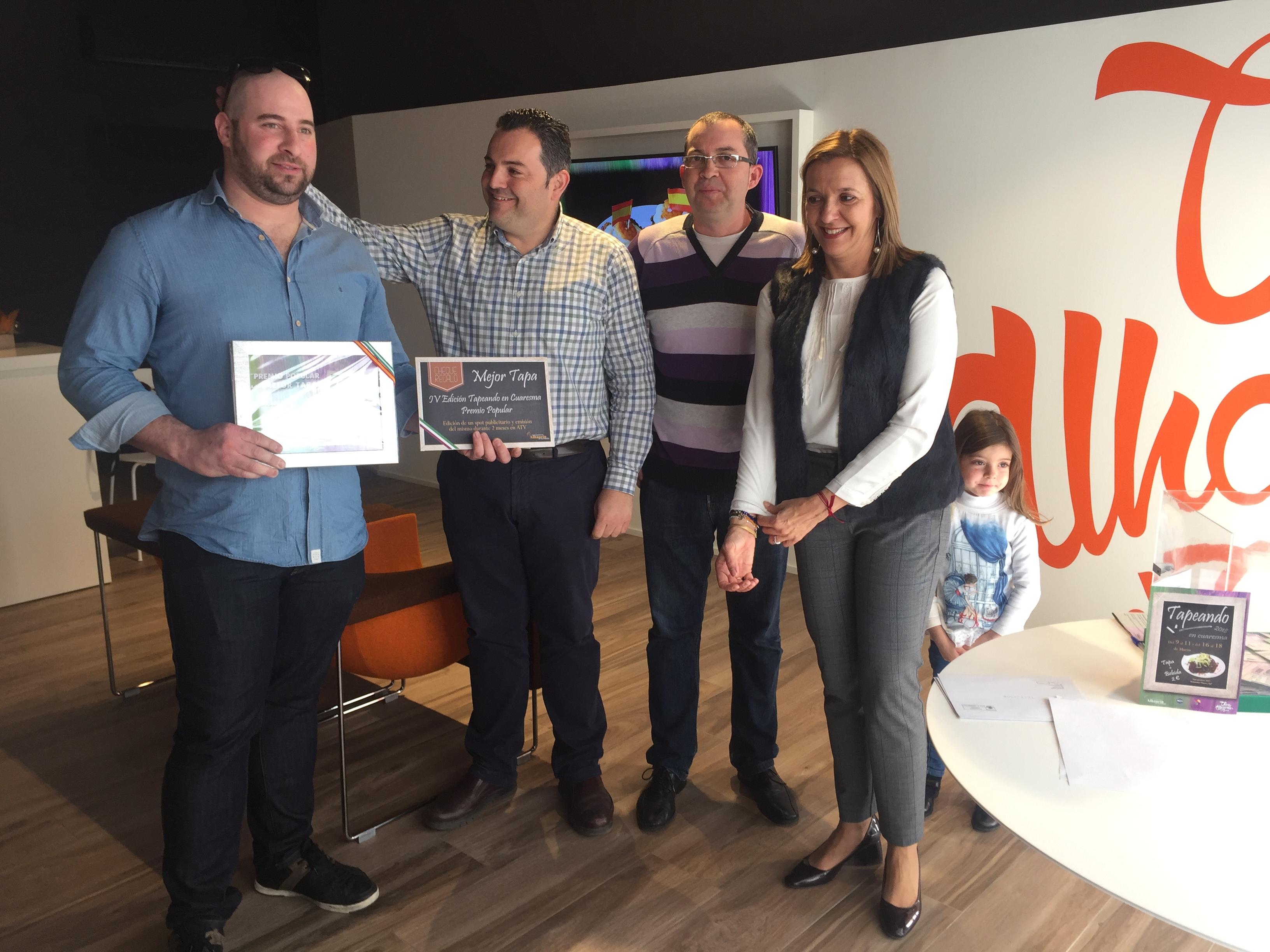 Ganadores de la IV edición de Tapeando en Cuaresma de Alhaurín el Grande