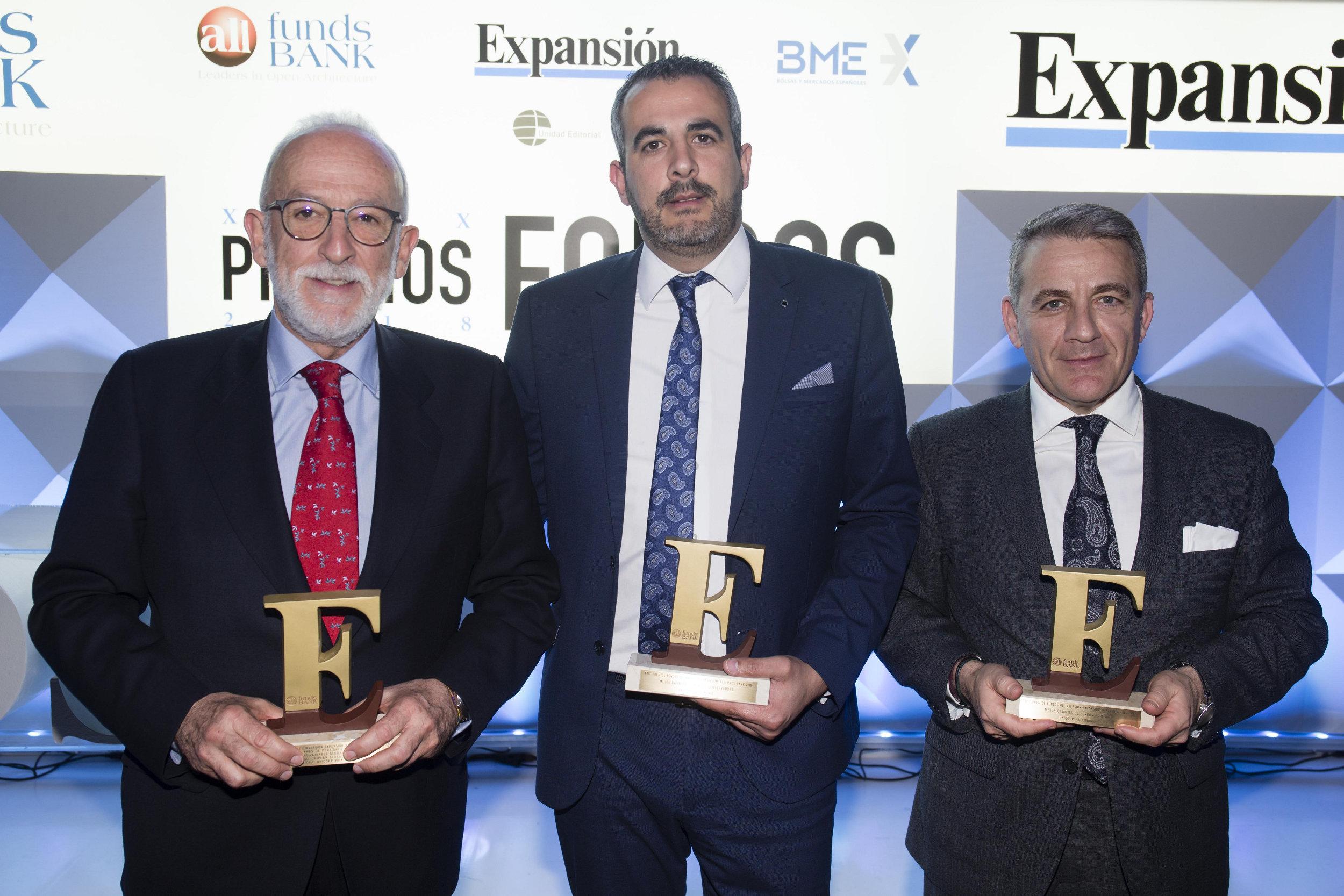 Unicorp Patrimonio, sociedad del Grupo Unicaja Banco, gana el concurso anual de carteras de fondos de Expansión y Allfunds 2017
