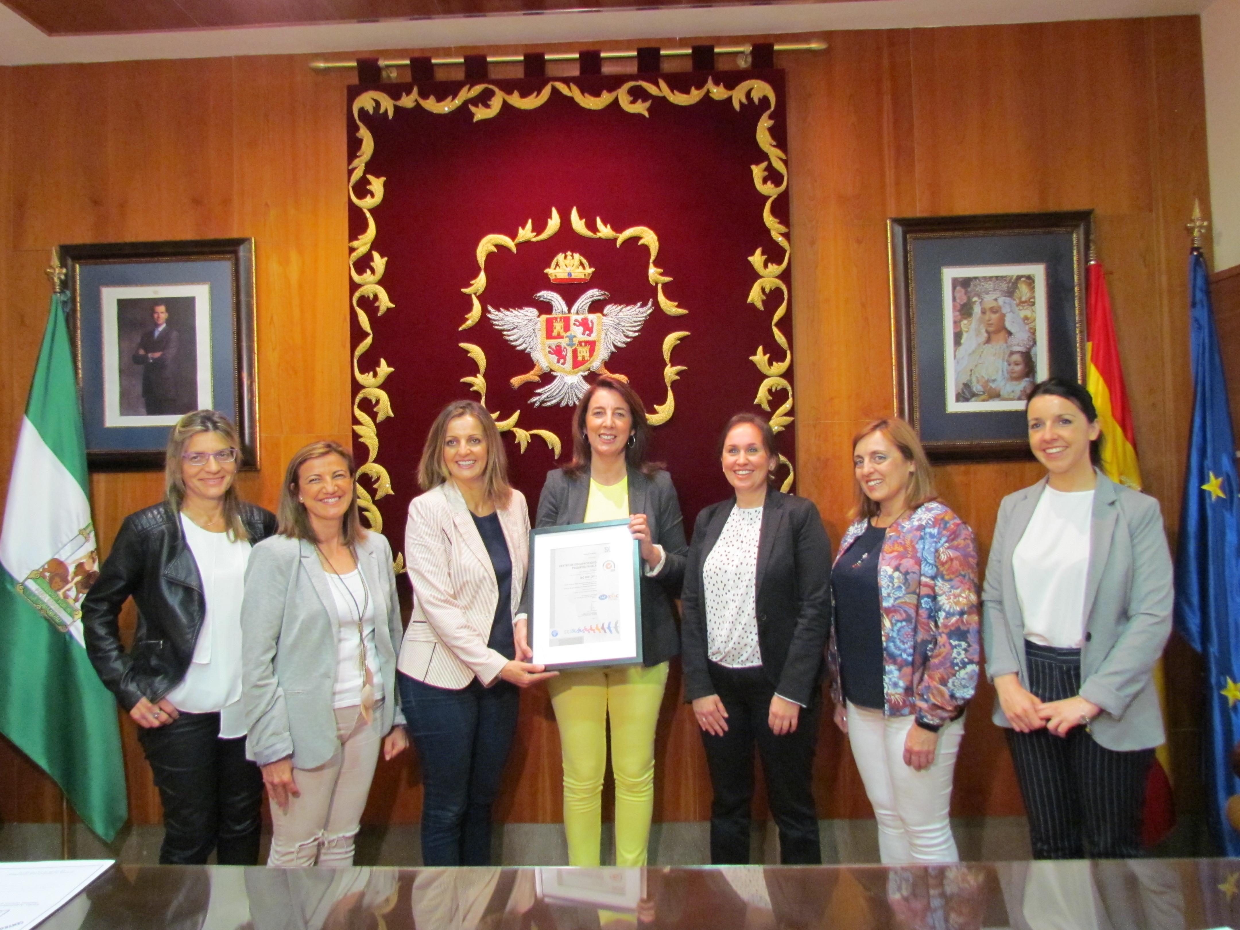 """El Centro Ocupacional """"Fahala"""" de Alhaurín El Grande obtiene el certificado de calidad ISO 9001"""