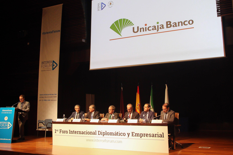 Unicaja Banco patrocina en Málaga Interex Fórum, un encuentro que reúne a 40 países con el objetivo de generar negocios a nivel internacional