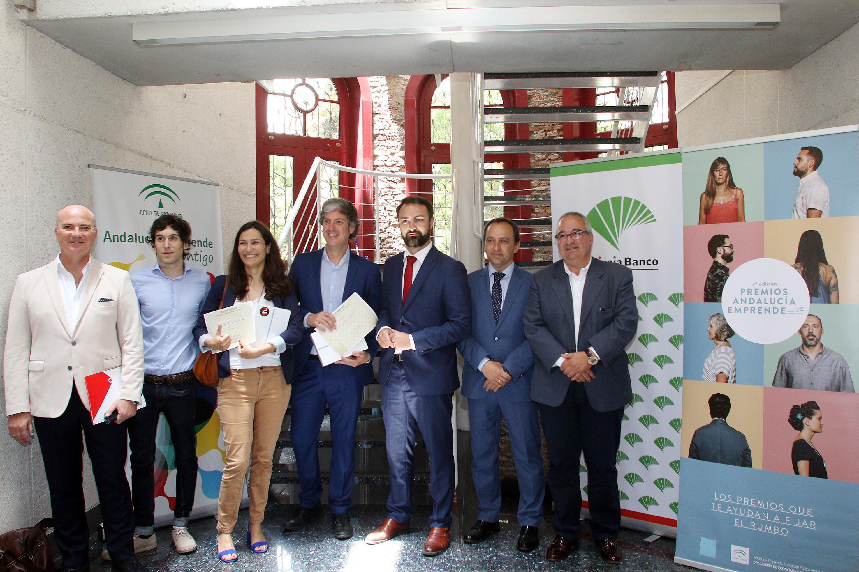 Unicaja Banco respalda los Premios Andalucía Emprende que se entregan a las empresas ganadoras de la provincia de Málaga