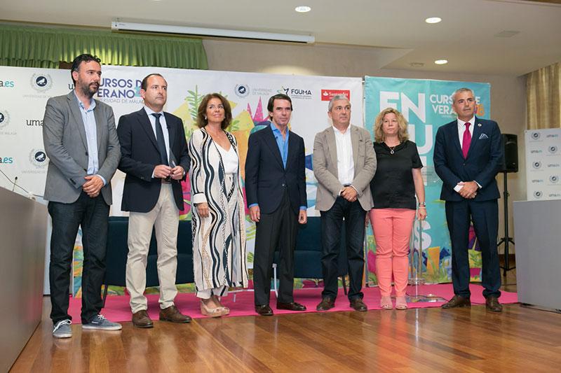 José María Aznar y Fernando Vallespín, protagonistas del día en los cursos de verano de la UMA