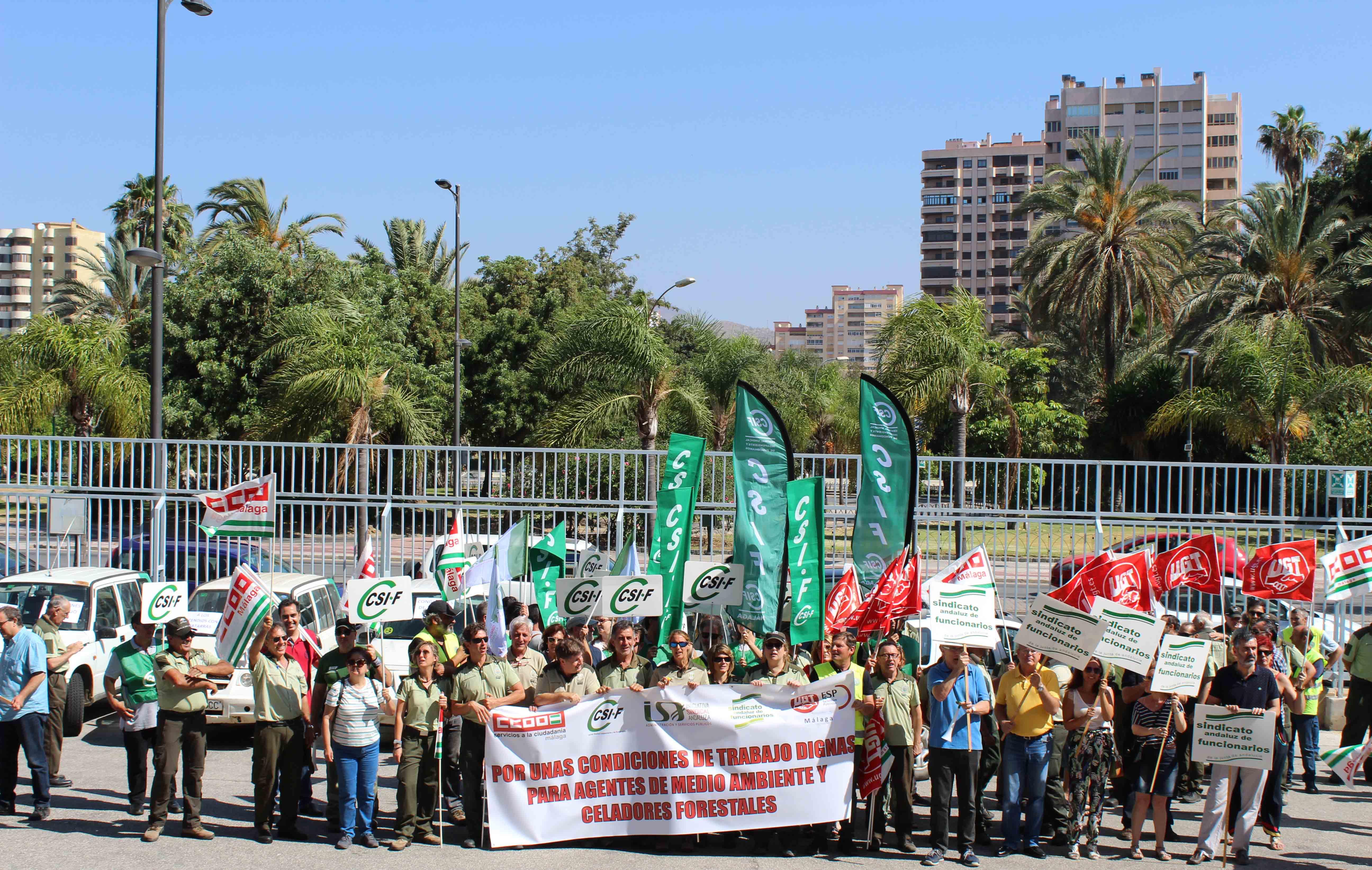 Agentes de Medio Ambiente se movilizan en Málaga para reclamar unas condiciones laborales dignas