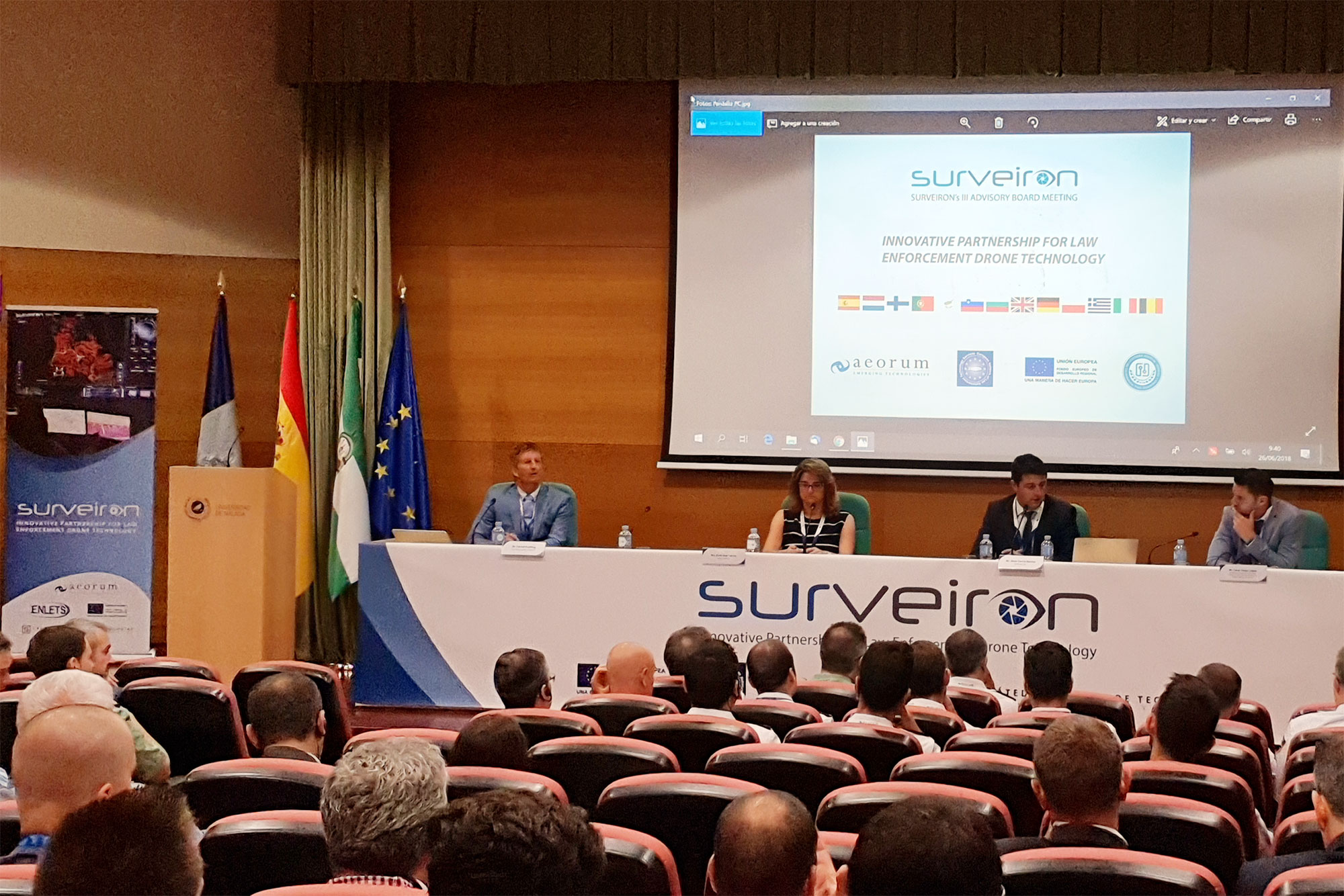 Doce ministerios del Interior europeos se reúnen en la UMA en un evento sobre tecnologías para la seguridad con drones