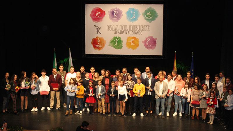 La XXXI Gala Municipal del Deporte de Alhaurín El Grande otorga 62 reconocimientos a deportistas y entidades