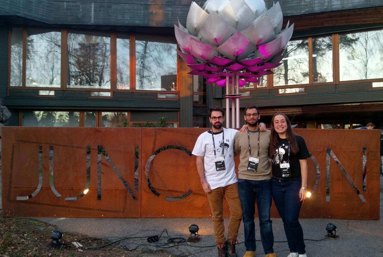 Tres estudiantes de la UMA consiguen los primeros premios Junction 2018