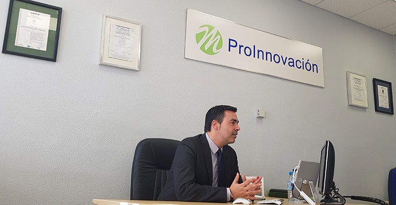 """José Ignacio Mateo (ProInnovación): """"Estudiamos el proyecto que quieren acometer y después les decimos a qué ayudas pueden acceder las empresas"""""""
