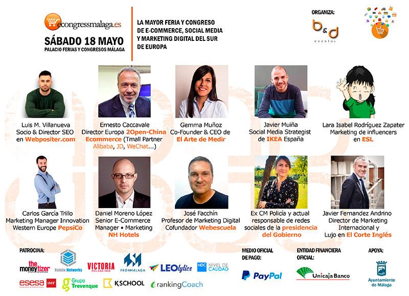 Málaga recibirá una nueva edición de ecommerce, social media y marketing digital, el mayor del sur de Europa