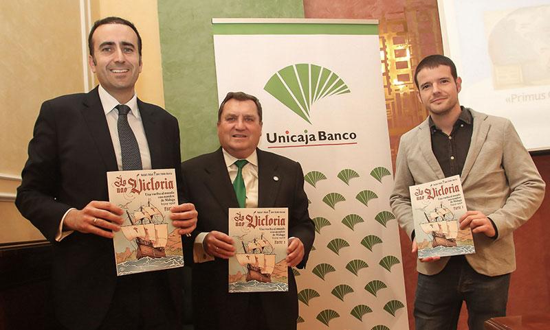 Unicaja Banco colabora en la publicación de un cómic que invita a viajar en la Nao Victoria para conmemorar el quinto centenario de la primera vuelta al mundo