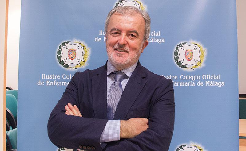 """Juan Antonio Astorga, presidente del Colegio de Enfermería de Málaga: """"Málaga es deficitaria en la ratio de enfermeros respecto a la media nacional y la europea"""""""