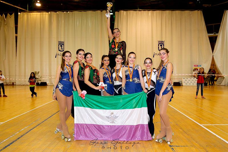 La Escuela Municipal de Patinaje de Alhaurín El Grande revalida su triunfo en Madrid en el Trofeo Internacional Latina de Grupos Show
