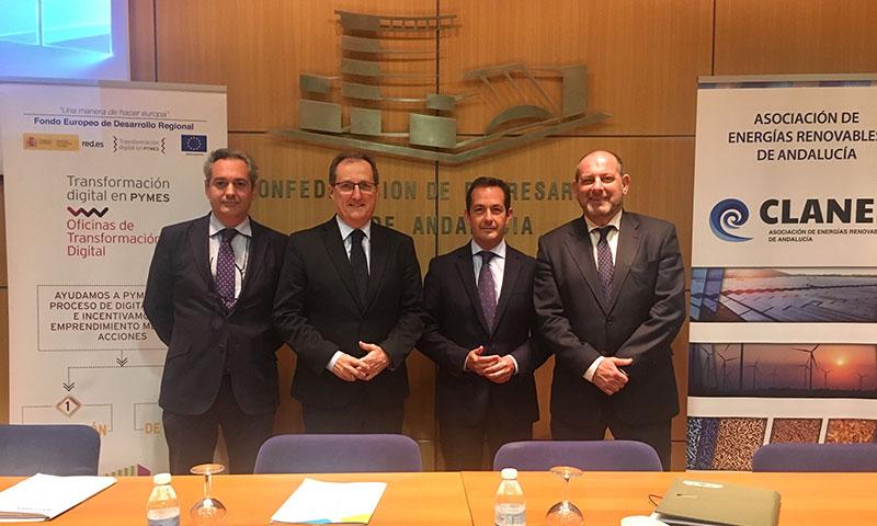 Las renovables andaluzas solicitan la modernización y creación de nuevas autopistas eléctricas en Andalucía