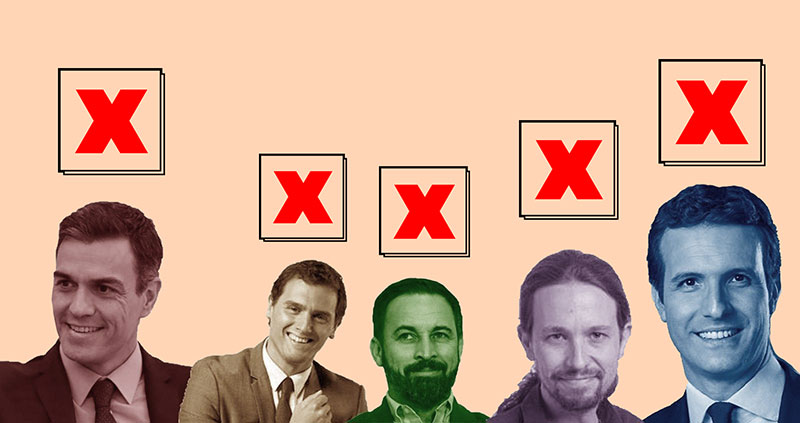 La abstención electoral será la única alternativa. Adrián Peña Botello