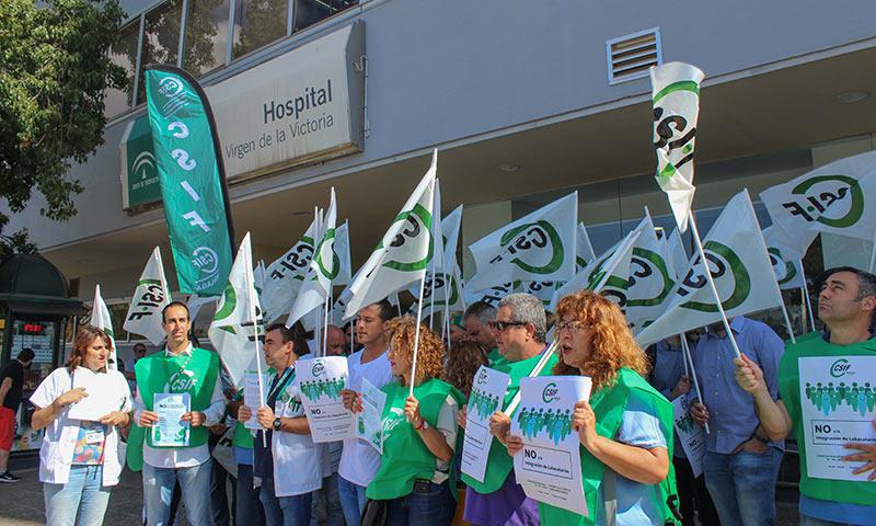 CSIF contra la centralización de los laboratorios