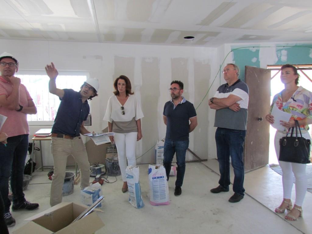 Las obras en la nueva Biblioteca Municipal de Villafranco del Guadalhorce de Alhaurín El Grande, quedarán terminadas a finales de julio