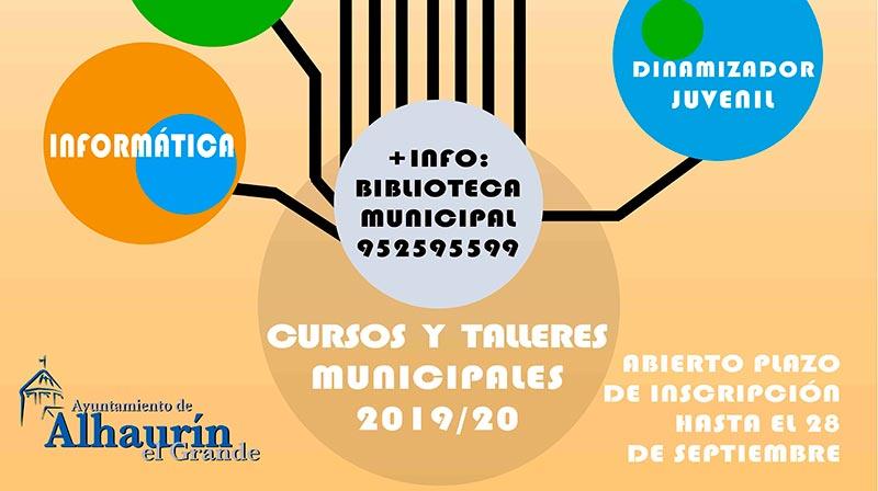 Abierto el plazo de inscripción para los cursos y talleres municipales que se ofertan desde la Biblioteca Municipal en Alhaurín el Grande
