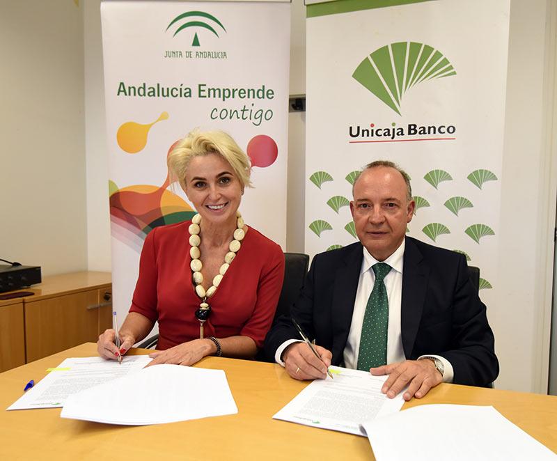 Andalucía Emprende y Unicaja Banco facilitan el acceso a financiación para emprendedores y empresas