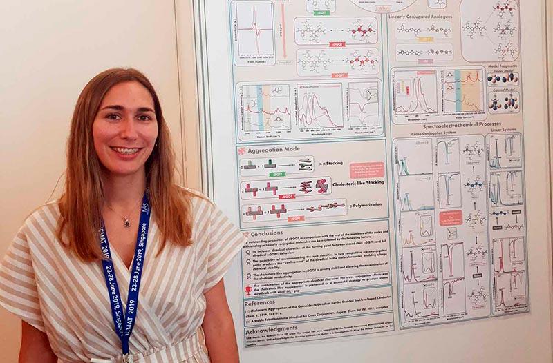Una estudiante de la UMA, reconocida en un congreso internacional referente en el diseño de materiales