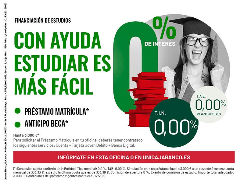 Unicaja Banco facilita un año más a los estudiantes el pago de la matrícula universitaria
