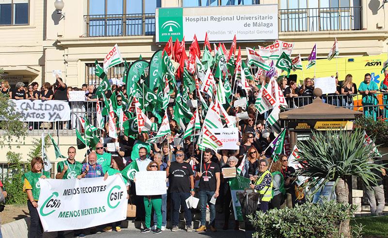 CSIF denuncia la falta de transparencia del SAS sobre las contrataciones y renovaciones de personal eventual en Málaga