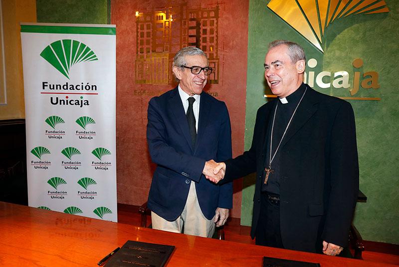 Fundación Unicaja y el Obispado de Málaga acuerdan la cesión del Palacio Episcopal para la celebración de actividades culturales