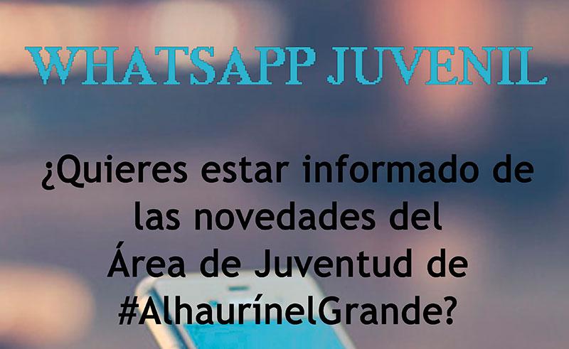 El Área de Juventud de Alhaurín El Grande presenta una novedosa campaña de información a los jóvenes vía WhatsApp