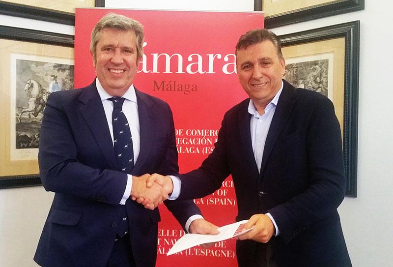 """La Cámara y Fundación INCYDE firman un convenio para desarrollar la operación """"Coworking Digital Cámara Málaga"""""""