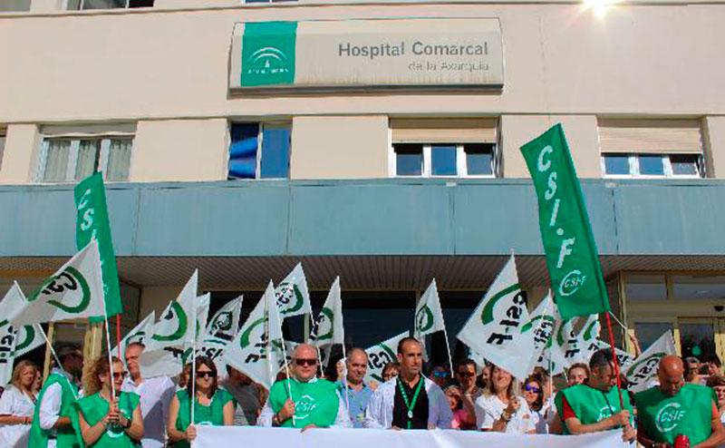 CSIF logra que se paralice la centralización del servicio de laboratorio en el Hospital Comarcal de la Axarquía