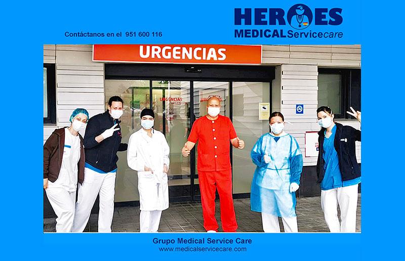 """El Grupo Medical Service Care dedica un espacio a sus profesionales sanitarios, a sus «HÉROES"""", como los llaman sus compañeros de la central."""