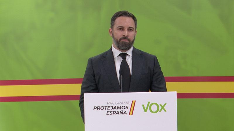 Abascal pide la dimisión del Ejecutivo y la creación de un Gobierno de Emergencia Nacional para hacer frente a la crisis del Covid19